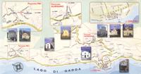 Wanderweg zu den Kirchen in Torri del Benaco am Gardasee.