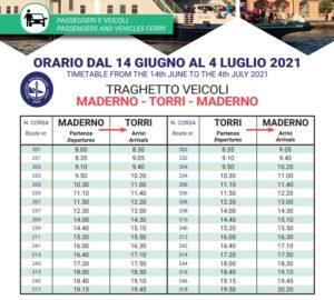 Fahrpläne und Preise Schifffahrt Torri del Benaco - Toscolano Maderno sul Garda. Fähre am Gardasee Fahrplan 2021 fähre Torri Maderno