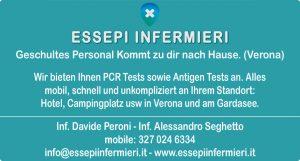 Wir bieten Ihnen PCR Tests sowie Antigen Tests an. Alles mobil, schnell und unkompliziert an Ihrem Standort: Hotel, Campingplatz usw in Verona und am Gardasee.